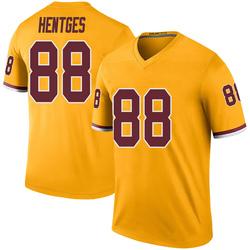 Hale Hentges Washington Redskins Men's Color Rush Legend Nike Jersey - Gold