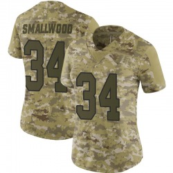 Wendell Smallwood Washington Redskins Women's Limited 2018 Salute to Service Nike Jersey - Camo